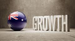 Stock Illustration of Australia. Growth  Concept.