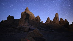 4K 3 Axis Motion Control Astro Time Lapse of Milky Way & Pinnacles -Zoom Out- Stock Footage