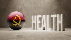 Stock Illustration of Angola. Health  Concept.