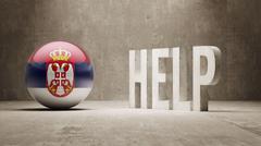 Serbia. Help  Concept. Stock Illustration