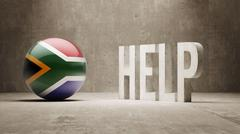 South Africa. Help  Concept. - stock illustration