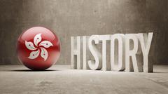 Hong Kong. History  Concept. - stock illustration