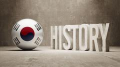 South Korea. History  Concept. - stock illustration