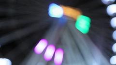 Ferris wheel illumination how to swing Stock Footage