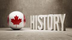 Canada. History  Concept. - stock illustration