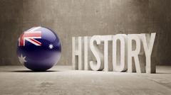 Australia. History  Concept. - stock illustration