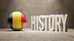 Belgium. History  Concept. - stock illustration