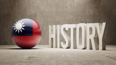 Taiwan. History  Concept. - stock illustration