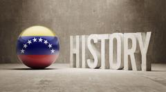 Venezuela. History  Concept. - stock illustration