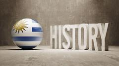 Uruguay. History  Concept. - stock illustration