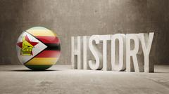 Zimbabwe. History  Concept. - stock illustration