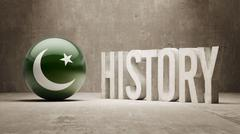 Pakistan. History  Concept. - stock illustration