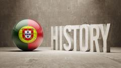Portugal. History  Concept. - stock illustration