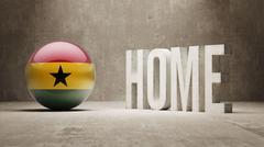 Stock Illustration of Ghana. Home  Concept.