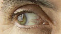 Friar eye macro angry Stock Footage