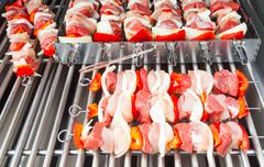 Barbecue preparation Stock Photos