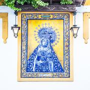 Catholic Altar in public street Stock Photos