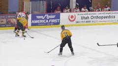 Hockey breakaway score Stock Footage