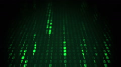Binary Matrix Falling Prespective - stock footage