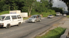A Main Road  on Micronesian Island of Pohnpei Stock Footage
