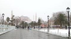 Hagia Sophia Museum Istanbul, Turkey. January 2015. Winter Season Stock Footage