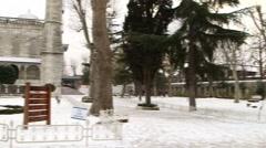 Sultan Ahmet (Blue Mosque) in Istanbul, Turkey. January 2015. Winter Season Stock Footage