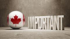 Canada. Important  Concept. Stock Illustration
