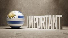 Uruguay. Important  Concept. - stock illustration