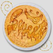 Sweet pancakes with honey Stock Illustration