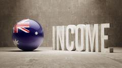 Australia. Income  Concept. - stock illustration
