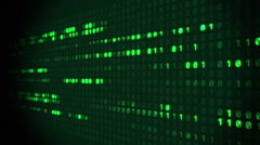 Binary Matrix Scrolling Prespective Stock Footage