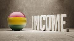 Stock Illustration of Bolivia. Income  Concept.
