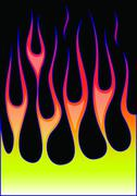 Hot-rod flames Stock Illustration