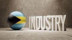 Bahamas. Industry Concept. Stock Illustration