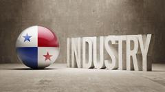 Panama. Industry Concept. Stock Illustration