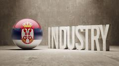 Stock Illustration of Serbia. Industry Concept.