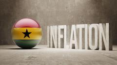 Stock Illustration of Ghana. Inflation Concept.