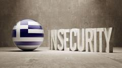 Greece. Insecurity Concept. Stock Illustration
