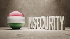 Hungary. Insecurity Concept. Stock Illustration