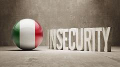 Stock Illustration of Insecurity Concept.
