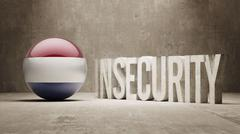 Netherlands. Insecurity Concept. Stock Illustration