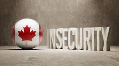 Stock Illustration of Canada. Insecurity Concept.