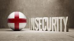 England. Insecurity Concept. Stock Illustration