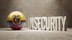 Stock Illustration of Ecuador. Insecurity Concept.