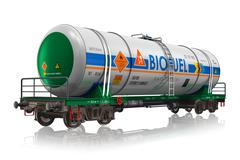 Railway tankcar with biofuel Stock Illustration