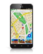 GPS navigation on smartphone Stock Illustration