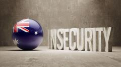 Australia. Insecurity Concept. Stock Illustration