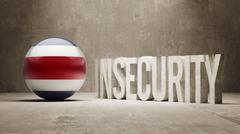 Costa Rica. Insecurity Concept. Stock Illustration