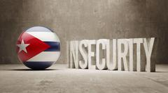 Cuba. Insecurity Concept. Stock Illustration