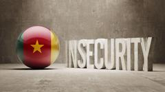 Stock Illustration of Cameroon. Insecurity Concept.